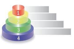 Torre gráfica para o negócio Foto de Stock Royalty Free