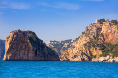 Torre Granadella Alicante di Javea Isla del Descubridor Immagine Stock Libera da Diritti
