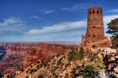 Torre Grand Canyon Arizona dell'orologio di vista del deserto Fotografia Stock Libera da Diritti