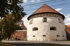 Torre gruesa en Sibiu Imagenes de archivo