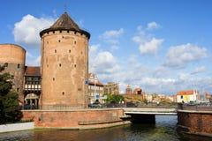 Torre gótica de la puerta de Stagiewna Fotografía de archivo libre de regalías