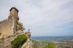 Torre Guaita или первое Torre marino san республика san marino Стоковые Фотографии RF