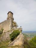 Torre Guaita eller första Torre marino san marinorepublik san Royaltyfri Fotografi