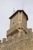 Torre Guaita eller första Torre marino san marinorepublik san Fotografering för Bildbyråer