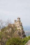Torre Guaita eller första Torre marino san marinorepublik san Arkivbilder