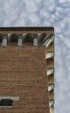 Torre Guelfa特写镜头在比萨 库存图片