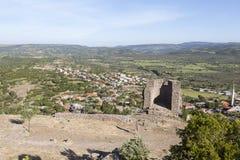 Torre helenística Troya Turquía Fotos de archivo