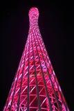 Torre hermosa de la televisión Foto de archivo