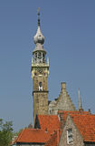 Torre histórica del ayuntamiento de Veere en Holanda Imágenes de archivo libres de regalías