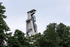 Torre histórica Gelsenkirchen Alemania de la explotación minera foto de archivo