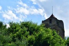 Torre histórica vieja Czchow Polonia Imagenes de archivo