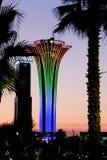 Torre illuminata, colori differenti, Expo botanica 2016 Fotografie Stock Libere da Diritti