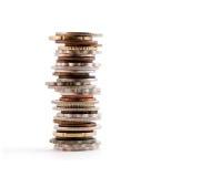 Torre impilata della moneta Fotografia Stock