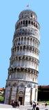 Torre inclinada foto de stock