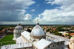 Torre inclinada da catedral de Pisa Foto de Stock