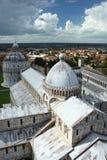 Torre inclinada da catedral de Pisa Imagem de Stock