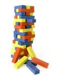 Torre inclinada de bloques Foto de archivo libre de regalías