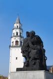 Torre inclinada de Nevyansk, Rusia Imagenes de archivo