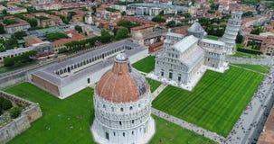 A torre inclinada de Pisa video estoque