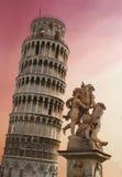A torre inclinada de Pisa Imagens de Stock