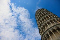 A torre inclinada de Pisa Fotografia de Stock