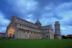 A torre inclinada de Pisa Foto de Stock Royalty Free