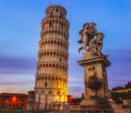 A torre inclinada de Pisa Imagens de Stock Royalty Free