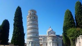 Torre inclinada de Pisa, Italia foto de archivo libre de regalías