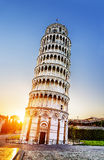 Torre inclinada de Pisa, Italia Imágenes de archivo libres de regalías