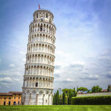 Torre inclinada de Pisa, Italia foto de archivo