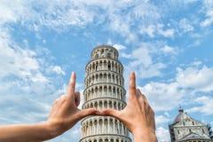 Torre inclinada de Pisa Italia Foto de archivo