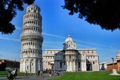 Torre inclinada de Pisa Italy Foto de Stock Royalty Free