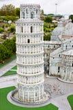 Torre inclinada de Pisa na miniatura Fotografia de Stock Royalty Free