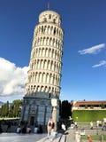 Torre inclinada de Pisa, Praça del Domo, Pisa, Toscânia, Itália Imagem de Stock Royalty Free