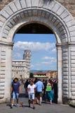 Torre inclinada de Pisa, Roma Imagem de Stock