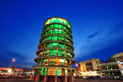 Torre inclinada de Teluk Intan Foto de Stock Royalty Free