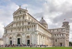 Torre inclinada e catedral em Pisa Fotografia de Stock