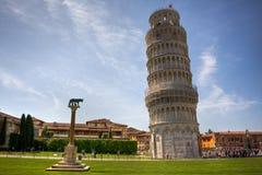 Torre inclinada em Pisa foto de stock