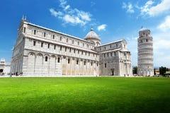 A torre inclinada, Pisa Fotografia de Stock