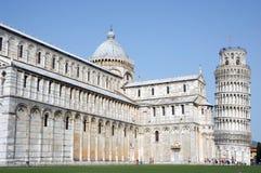 Torre inclinada Pisa da catedral da vista lateral Foto de Stock