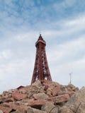 Torre Inglaterra de Blackpool em uma cena apocalíptico do cargo urbano Imagem de Stock Royalty Free