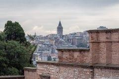 Torre Istambul de Galata Fotografia de Stock