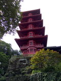 Torre japaneese vermelha Fotografia de Stock Royalty Free