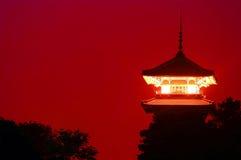 Torre japonesa Imágenes de archivo libres de regalías