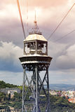 Torre Jaume Barcelona, funicular tower Stock Images