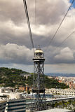 Torre Jaume Barcelona,  funicular tower Royalty Free Stock Image