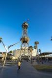 Torre Jaume wierza wagon kolei linowej w porcie Barcelona Zdjęcia Stock