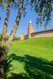 Torre Kokui y torre de la intercesión, Novgorod el Kremlin Foto de archivo