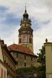 Torre, ½ Krumlov, repubblica Ceca di ÄŒeskà Fotografie Stock Libere da Diritti