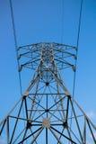 Torre 110kV del trasporto di energia di fiducia Fotografia Stock Libera da Diritti